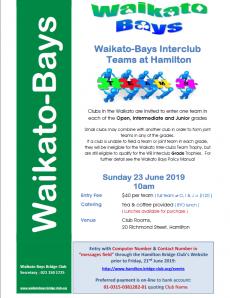 Waikato Inter-Club Teams on Sunday