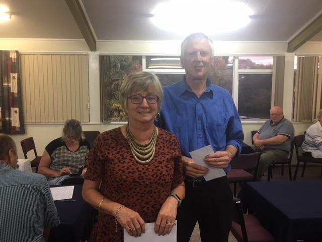 Winners at Cambridge WAP: Cynthia and Ian Clayton from Hamilton